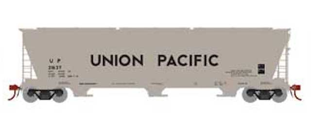 N Scale - Athearn - 7883 - Covered Hopper, 3-Bay, ACF 4600 - Union Pacific - 21637