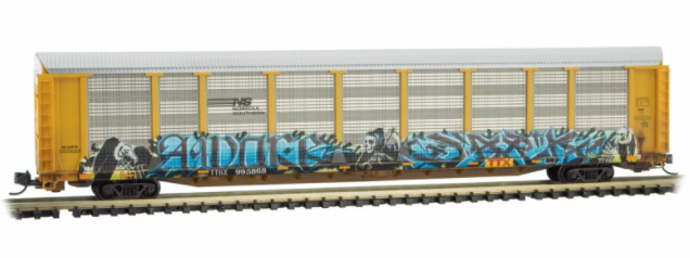 N Scale - Micro-Trains - 111 44 400 - Autorack, Enclosed, Tri-Level - Norfolk Southern - 995868