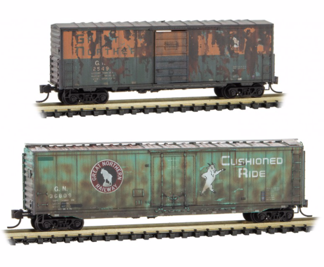 N Scale - Micro-Trains - 993 05 760 - Mixed Freight Consist - Great Northern - 2-Pack