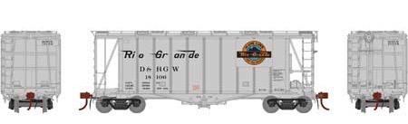 N Scale - Athearn - 23482 - Covered Hopper, 2-Bay, GATX Airslide 2600 - Rio Grande - 18106