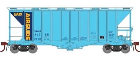 N Scale - Athearn - 23478 - Covered Hopper, 2-Bay, GATX Airslide 2600 - GATX - 46795