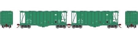 N Scale - Athearn - 23477 - Covered Hopper, 2-Bay, GATX Airslide 2600 - Penn Central - 2-Pack