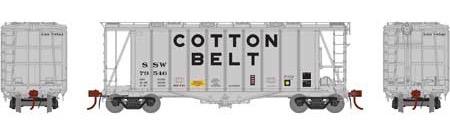 N Scale - Athearn - 23472 - Covered Hopper, 2-Bay, GATX Airslide 2600 - Cotton Belt - 79546