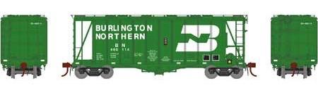 N Scale - Athearn - 23465 - Covered Hopper, 2-Bay, GATX Airslide 2600 - Burlington Northern - 400114