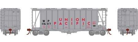 N Scale - Athearn - 23462 - Covered Hopper, 2-Bay, GATX Airslide 2600 - Union Pacific - 11607
