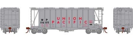 N Scale - Athearn - 23461 - Covered Hopper, 2-Bay, GATX Airslide 2600 - Union Pacific - 11605