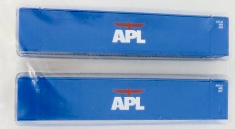 N Scale - Con-Cor - 0004-048015 - Container, Intermodal, 48 Foot, Hi-Cube - APL Logistics - 2-Pack