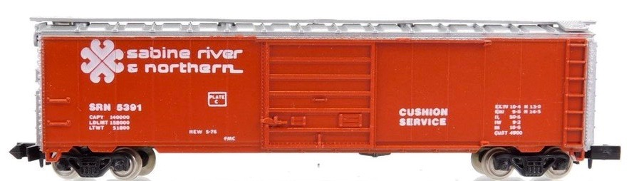 N Scale - Con-Cor - 1452Q - Boxcar, 50 Foot, Steel - Sabine River & Northern - 5391