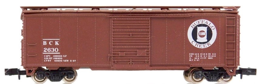 N Scale - Brooklyn Locomotive Works - BLW-129 - Boxcar, 40 Foot, PS-1 - Buffalo Creek - 2630