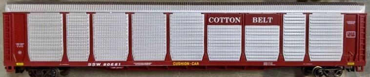N Scale - Con-Cor - 0001-603008(02) - Autorack, Enclosed, Bi-Level - Cotton Belt - 80681