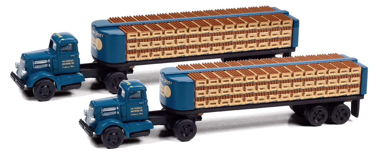 N Scale - Classic Metal Works - 51198 - Truck, White WC22 - Peoples Beer