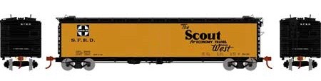 N Scale - Athearn - 2368 - Reefer, 50 Foot, RR-30 - Santa Fe - None