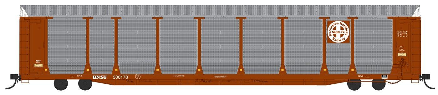 N Scale - Fox Valley - 194100-01 - Autorack, Enclosed, Bi-Level - Burlington Northern Santa Fe - 300160
