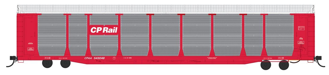 N Scale - Fox Valley - 194106-01 - Autorack, Enclosed, Bi-Level - Canadian Pacific - 541615
