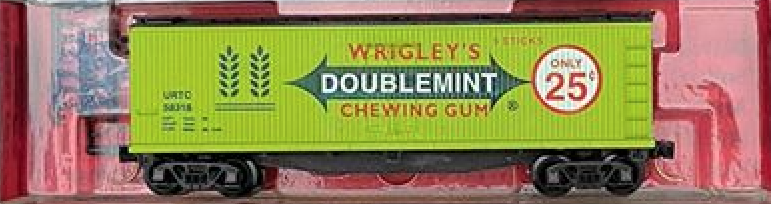N Scale - The Freight Yard - 2103C - Boxcar, 40 Foot, Double Wood Sheathed - Wrigley Company - 58318