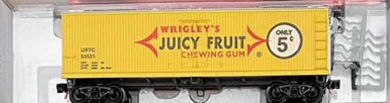N Scale - The Freight Yard - 2207C - Boxcar, 40 Foot, Double Wood Sheathed - Wrigley Company