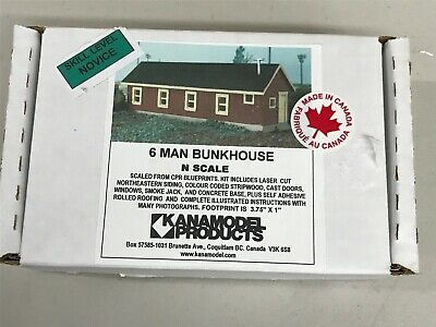 N Scale - KanaModel - 6008 - Bunkhouse - Railroad Structures - 6 Man Bunkhouse