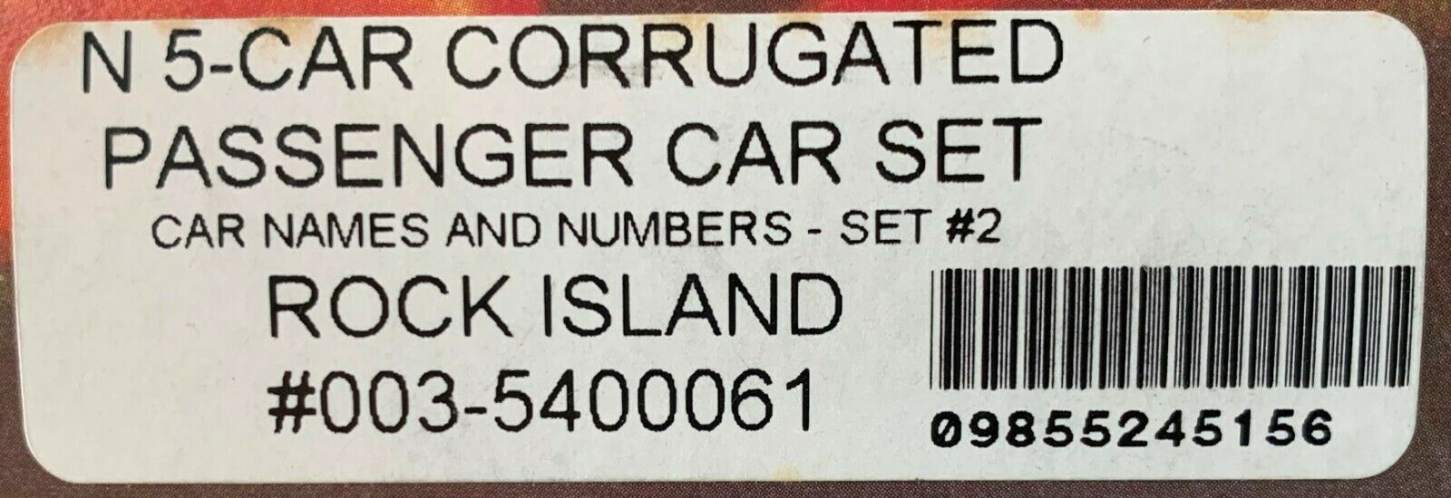 N Scale - Con-Cor - 0003-5400061 - Passenger Car, Lightweight, Corrugated - Rock Island - 5-Pack