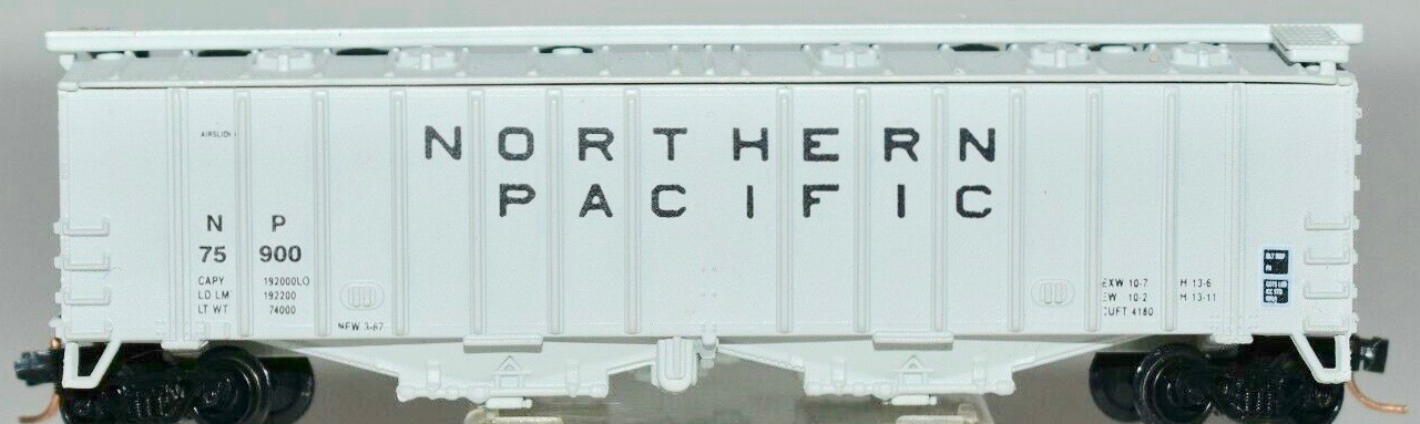 N Scale - JnJ - 9316 - Covered Hopper, 2-Bay, GATX Airslide 4180 - Northern Pacific - 75900