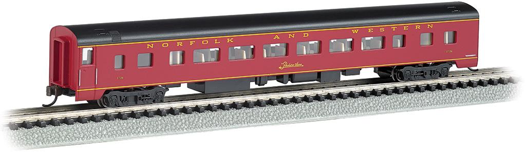 N Scale - Bachmann - 14257 - Passenger Car, Streamlined, Coach - Norfolk & Western - 1728