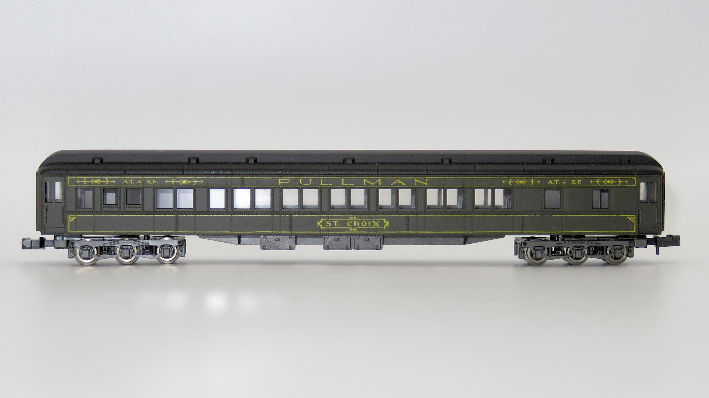 N Scale - Rivarossi - 9535 - Passenger Car, Heavyweight, Pullman Sleeper 10-1-2 - Santa Fe - St. Croix