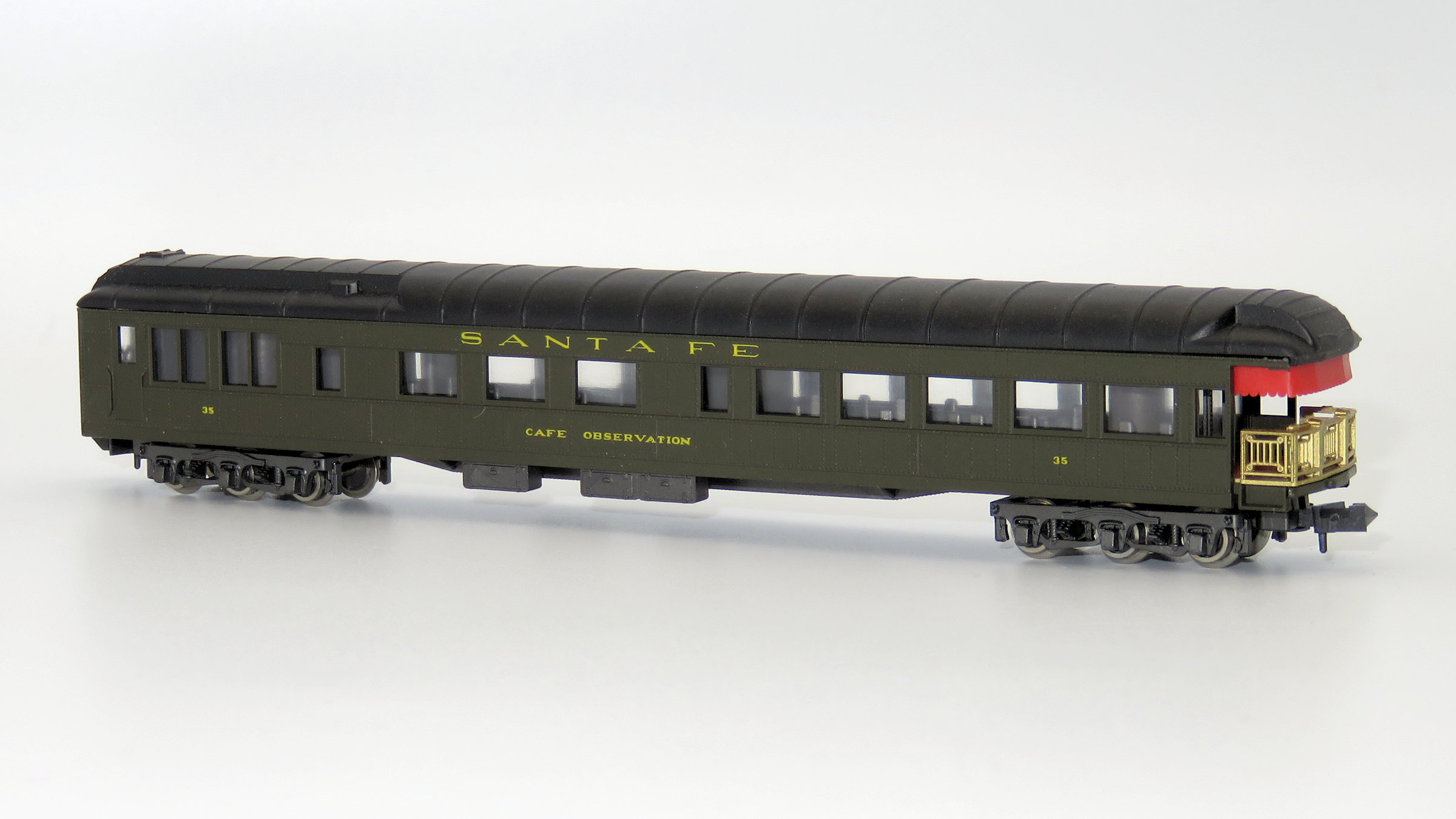 N Scale - Rivarossi - 9541 - Passenger Car, Heavyweight, Pullman, Observation - Santa Fe - 35