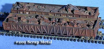 N Scale - Fine N-Scale Products - FNS-202 - Loads. Scrap Metal - Painted/Unlettered - Scrap Metal