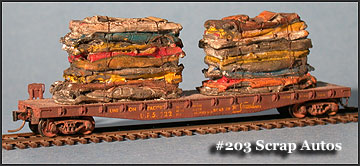 N Scale - Fine N-Scale Products - FNS-203 - Loads. Scrap Metal, Autos - Painted/Unlettered - Scrap Autos