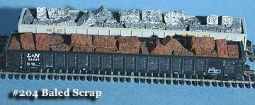 N Scale - Fine N-Scale Products - FNS-204 - Loads. Baled Scrap - Painted/Unlettered - Baled Scrap