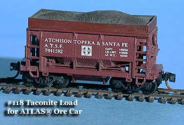 N Scale - Fine N-Scale Products - FNC-118 - Loads. Ore Car, Taconite - Painted/Unlettered - Taconite Load