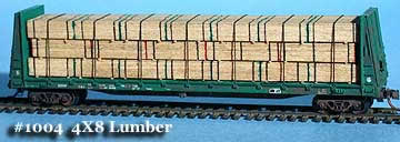 N Scale - Fine N-Scale Products - FNL-1004 - Loads. Lumber Stacked/Cut - Painted/Unlettered - 4x8 Lumber Stacked/Cut