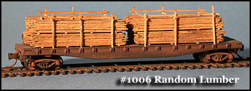 N Scale - Fine N-Scale Products - FNL-1006 - Loads. Lumber Stacked/Cut - Painted/Unlettered - Random Lumber