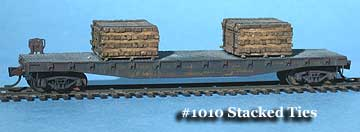 N Scale - Fine N-Scale Products - FNL-1010 - Loads. Railroad Ties - Painted/Unlettered - Stacked Railroad Ties