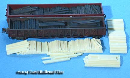 N Scale - Fine N-Scale Products - FNL-1014 - Loads. Railroad Ties - Undecorated - Used Railroad Ties