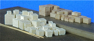 N Scale - Fine N-Scale Products - FNM-510 - Loads. Wood Crates - Undecorated - Small and Medium Wood Crates