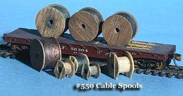 N Scale - Fine N-Scale Products - FNM-550 - Loads. Cable Spools - Undecorated - Cable Spools