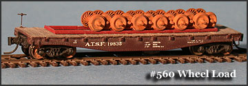 N Scale - Fine N-Scale Products - FNM-560 - Load, Wheels , Freight Car - Undecorated - Freight Car Wheel Load