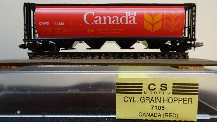 N Scale - CS Models - 7105 - Covered Hopper, 4-Bay, Cylindrical - Canda - 110328