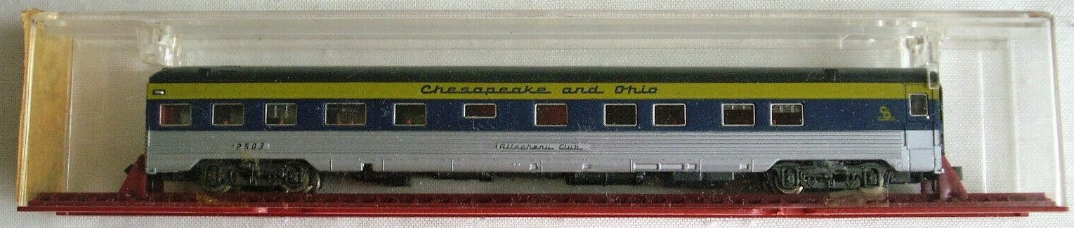 N Scale - MRC - 6920 - Passenger Car, Pullman, Semi-Corrugated, Observation - Chesapeake & Ohio - 2503