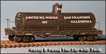 N Scale - Fine N-Scale Products - FNR-2104 - 36ft Oil Tank. Flatcar - Undecorated