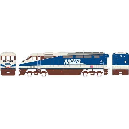 N Scale - Athearn - 15261 - Locomotive, Diesel, EMD F59PHi - Chicago Metra - 90