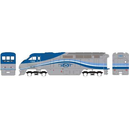 N Scale - Athearn - 15368 - Locomotive, Diesel, EMD F59PHi - AMT (Agence Métropolitaine de Transport) - 1326