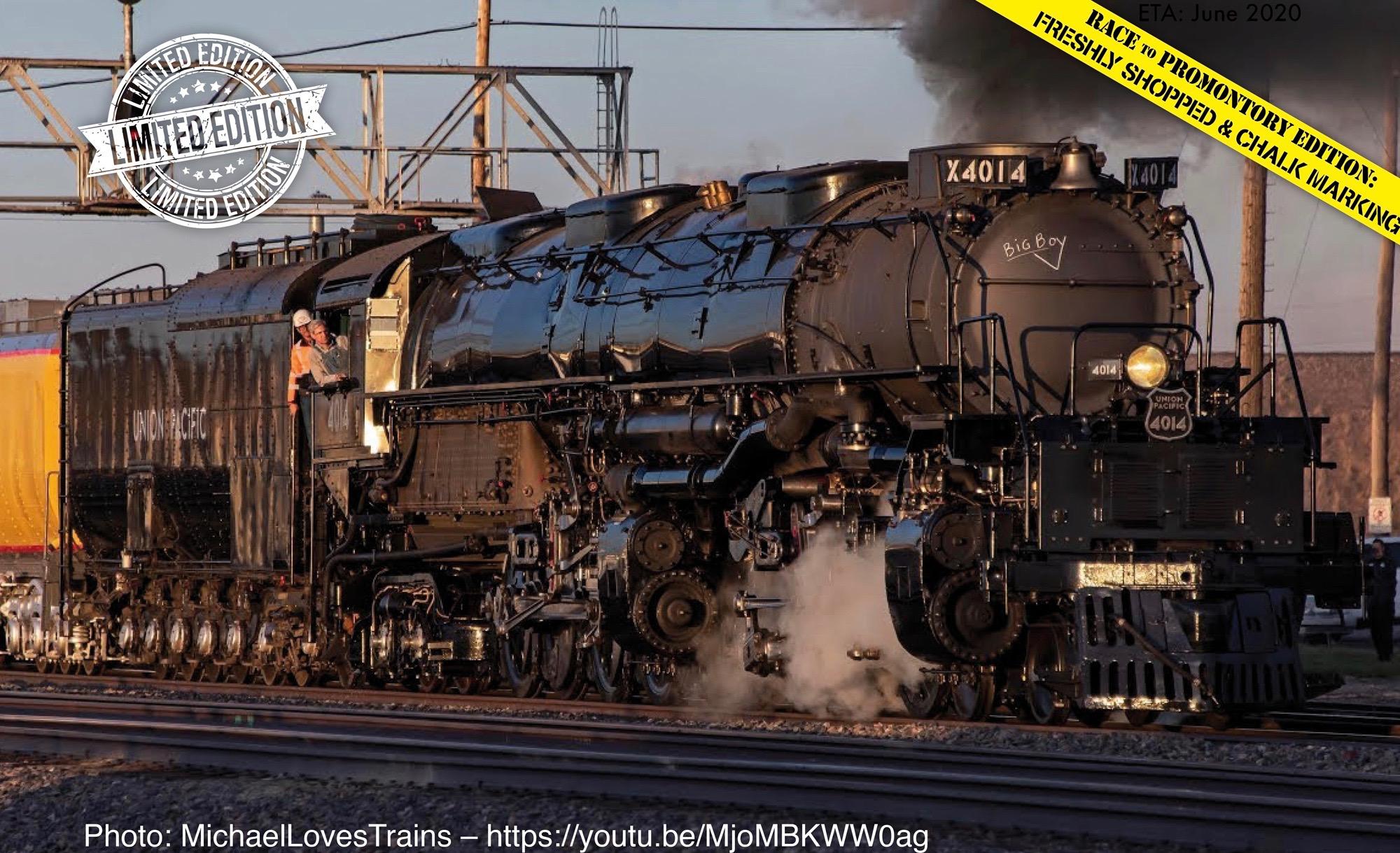 N Scale - Athearn - 04014 - Locomotive, Steam, 4-8-8-4 Big Boy - Union Pacific - 4014
