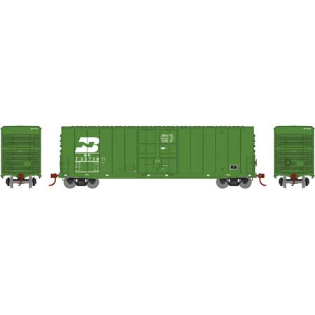 N Scale - Athearn - 1417 - Boxcar, 50 Foot, Steel, Hi-Cube - Burlington Northern - 732738