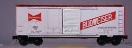 N Scale - Ak-Sar-Ben - 9304E - Boxcar, 40 Foot, PS-1 - Anheuser Busch - 105
