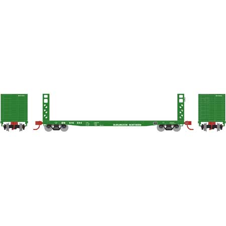 N Scale - Athearn - 24297 - Flatcar, Bulkhead 53 Foot GSC/GSI - Burlington Northern - 616038