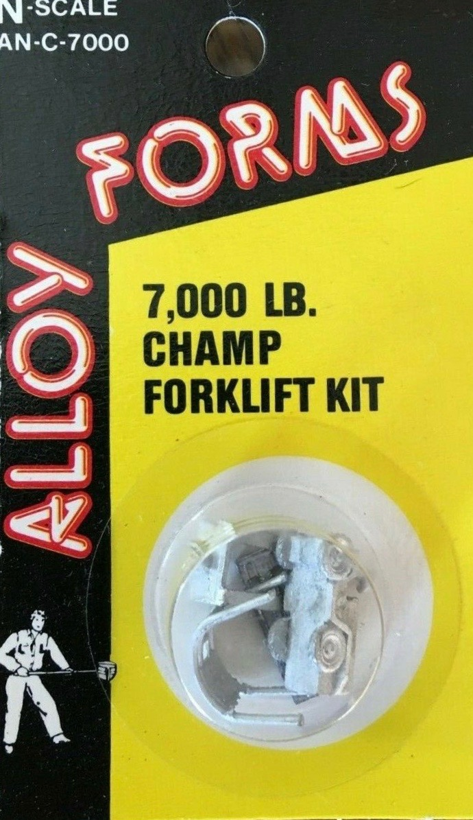 N Scale - Alloy Forms - AN-C-7000 - 7,000 lb Forklift - Undecorated