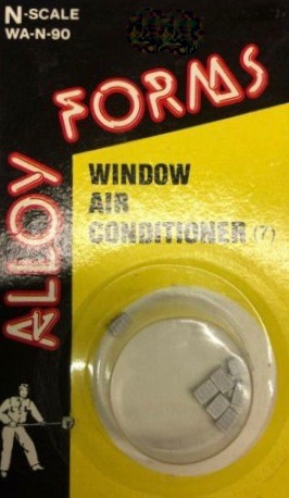 N Scale - Alloy Forms - WA-N-90 - Window Air Conditioner - Undecorated