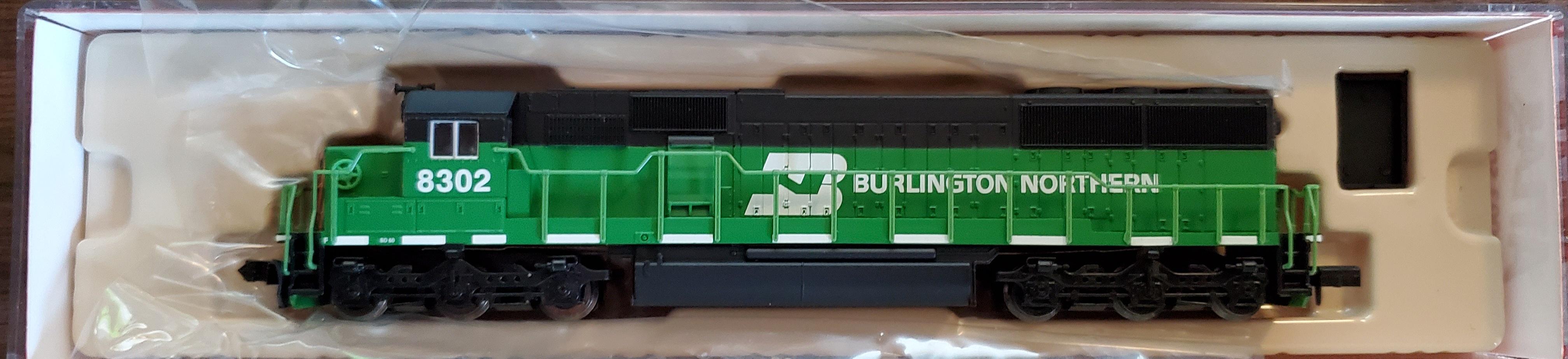 N Scale - Atlas - 49003 - Locomotive, Diesel, EMD SD60 - Burlington Northern - 8302