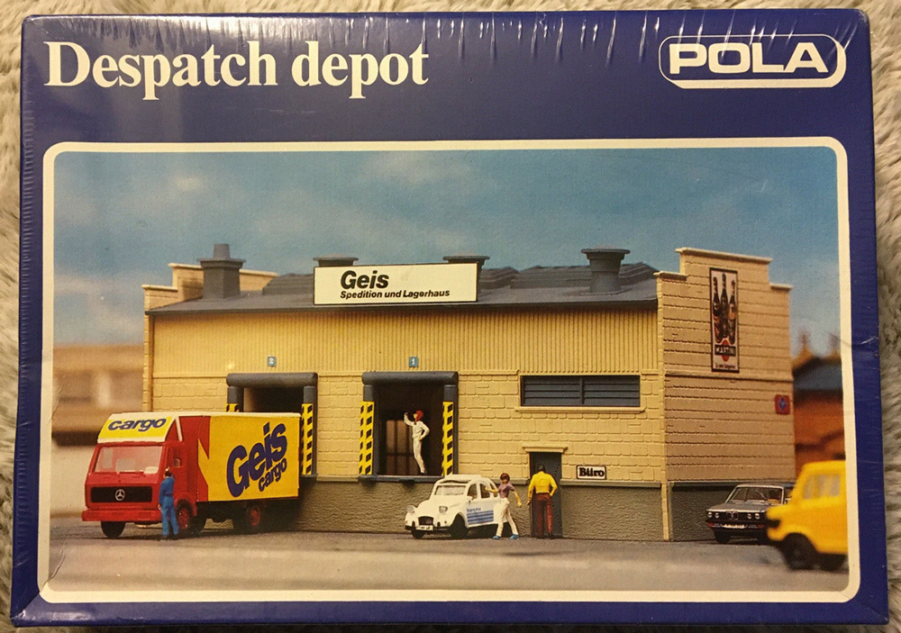 N Scale - Pola - 246 - Freight House - Railroad Structures - Dispatch Depot
